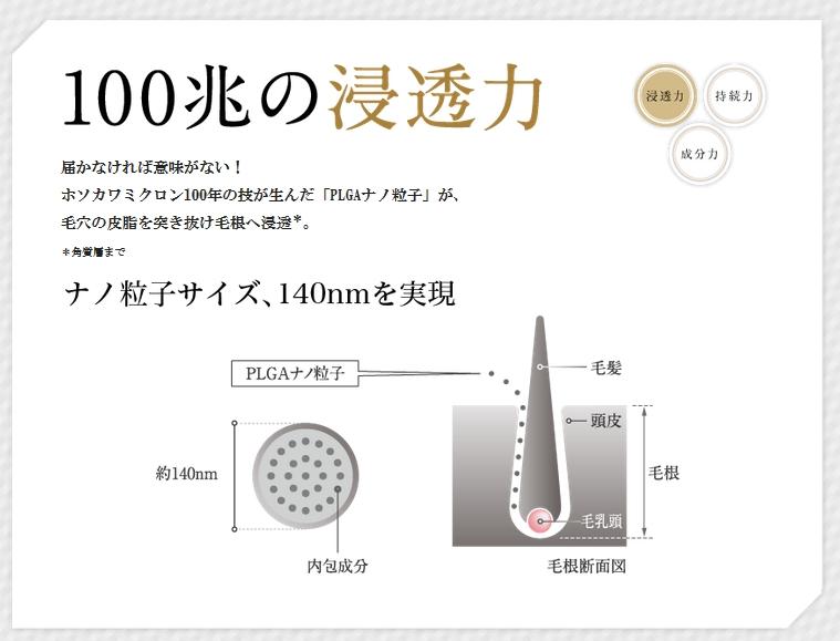 ナノインパクト100の発毛効果